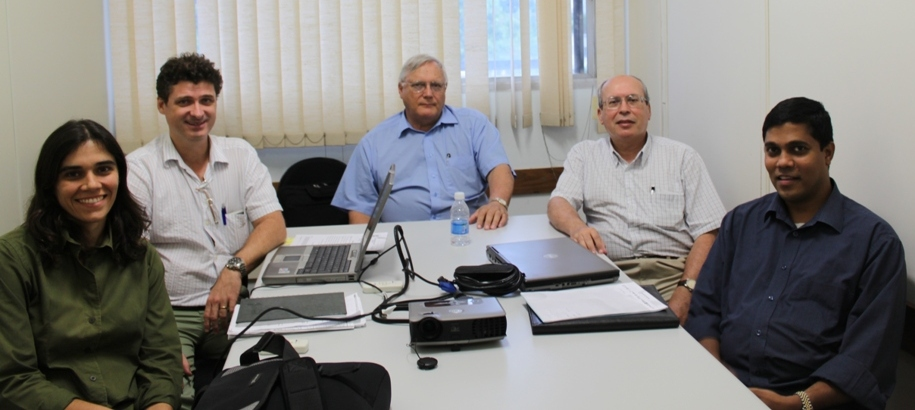 Drs. Venayagamoorthy and Harley meeting with the Brazilian Professors at the Federal University of Rio de Janeiro - Nov. 17, 2009.